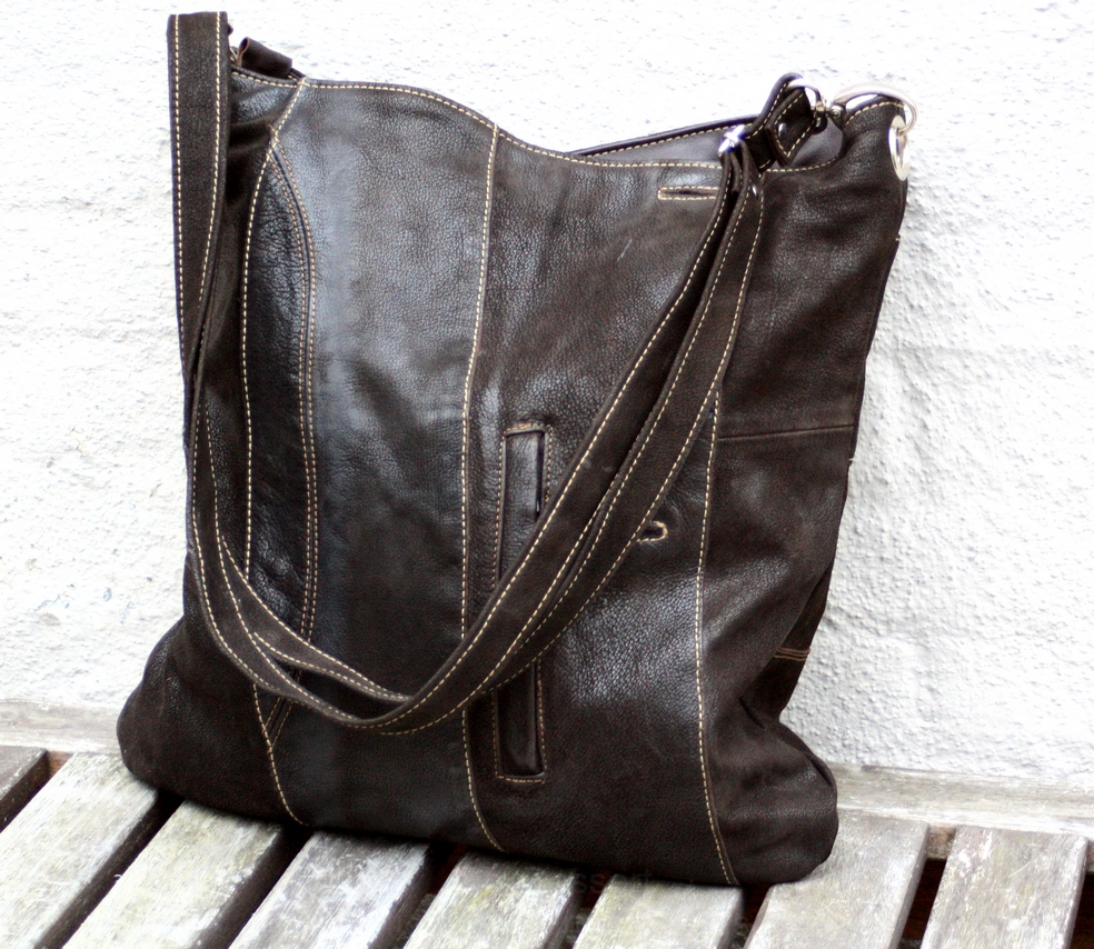 Brown soft nubuck bag
