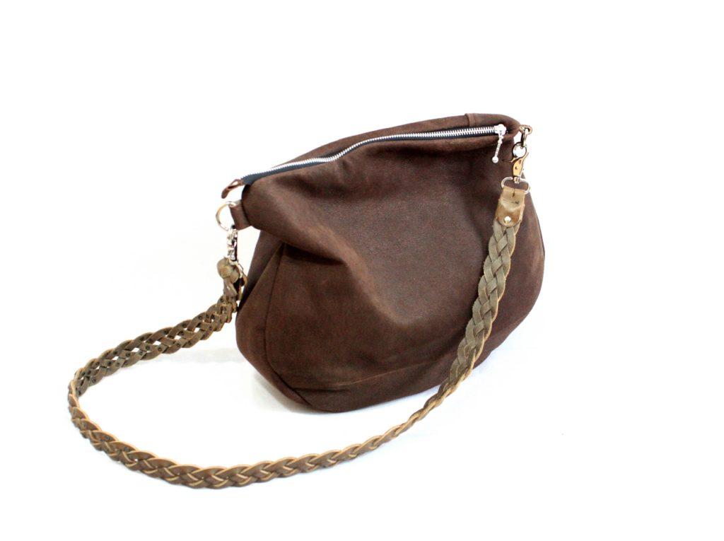Chokoladebrun lammeruskind jakke til endnu en taske