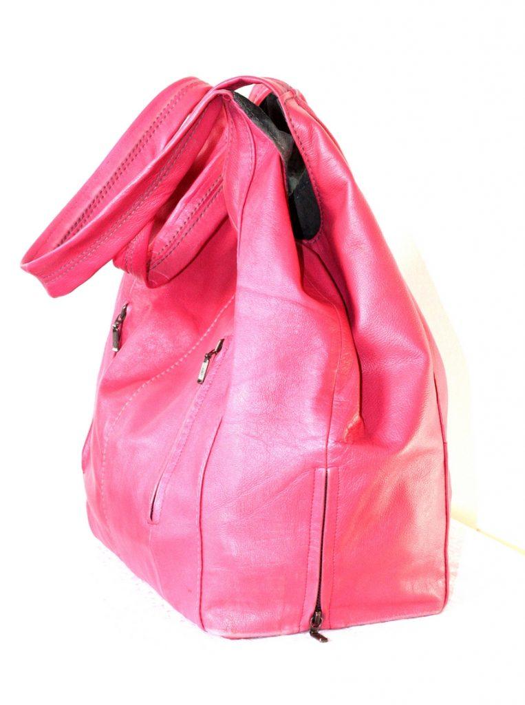 A pink shopper