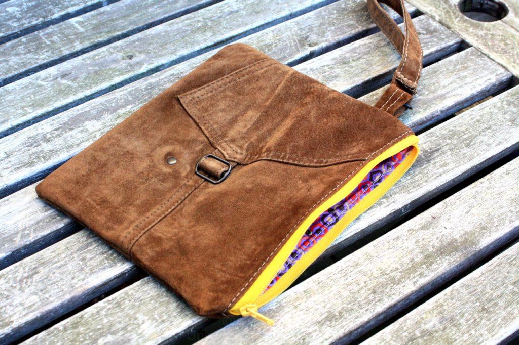 Brun, vintage ruskind clutch