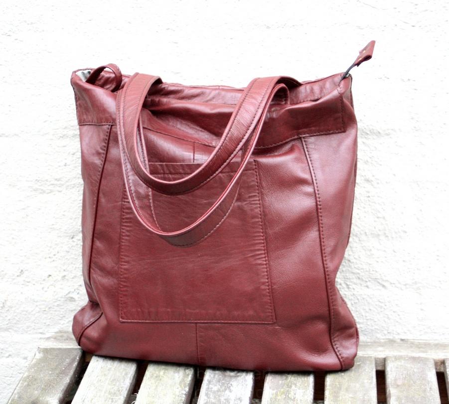 Rødbrun citybag