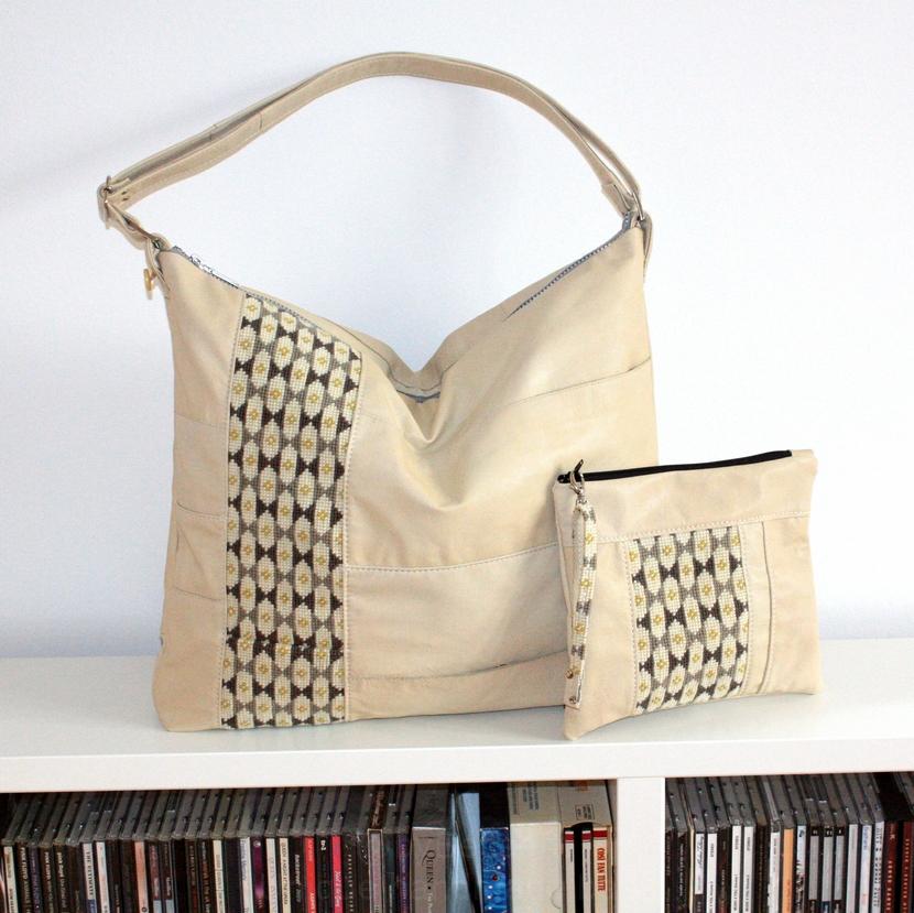 Sommer taske med en lille pung